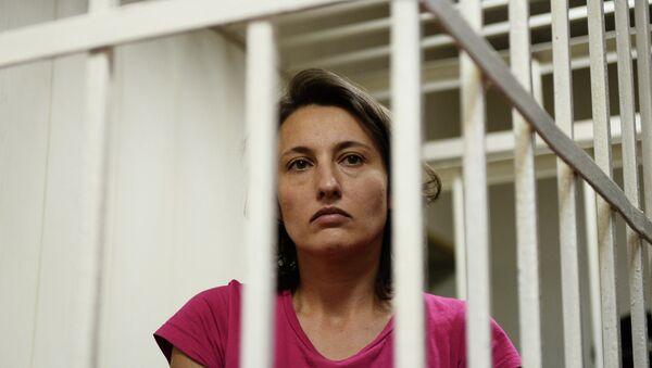 Виктория Павленко, обвиняемая в краже собаки-поводыря. Архивное фото