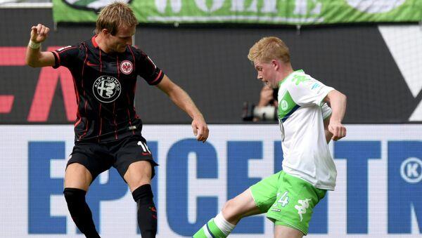 Матч 1-го тура чемпионата Германии по футболу. Вольфсбург - Айнтрахт