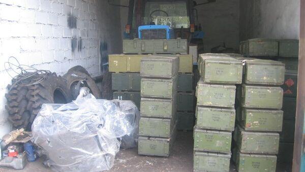 Склад оружия и боеприпасов в Брянке, Луганская область