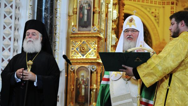 Патриаршее служение в честь 1025-летия Крещения Руси
