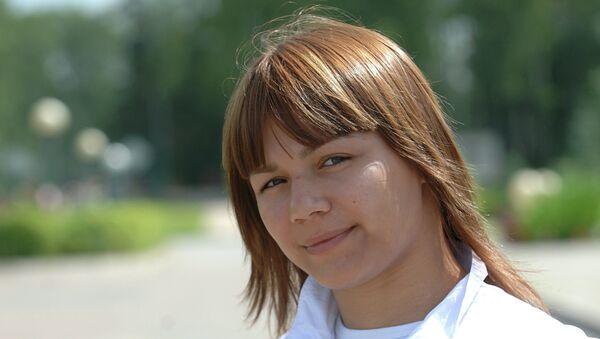 Член женской сборной России по борьбе Наталья Гольц. Архивное фото