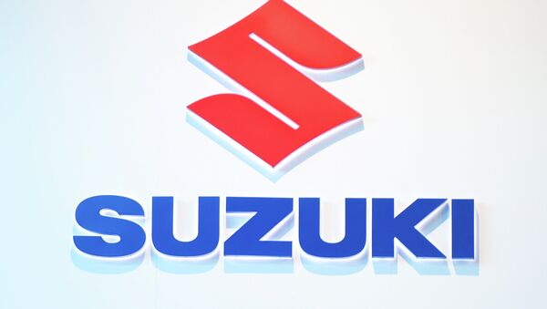 Эмблема Suzuki. Архивное фото