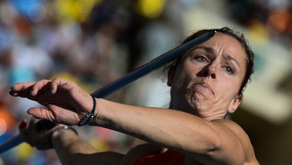 Немка Катрина Молитор на соревнованиях по метанию копья среди женщин. Архивное фото