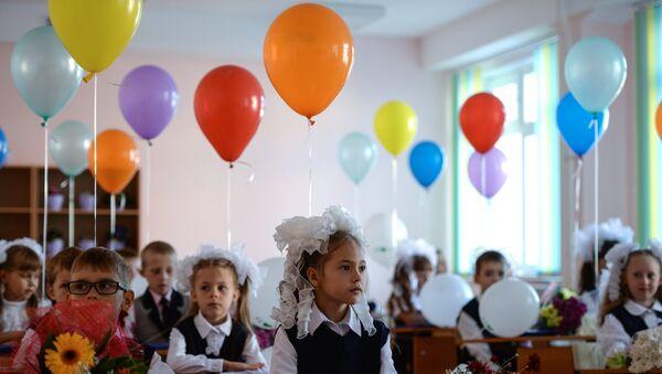Начало учебного года в школах России. Архивное фото