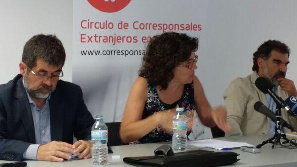 Пресс-конференции в Мадриде президента Каталонской национальной ассамблеи (ANC) Жорди Санчеса