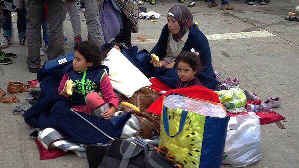Беженцы на австро-венгерской границе