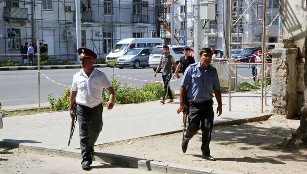 Полиция на улицах Душанбе. Архивное фото