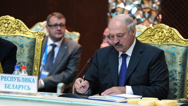 Президент Белоруссии Александр Лукашенко. Саммит ОДКБ
