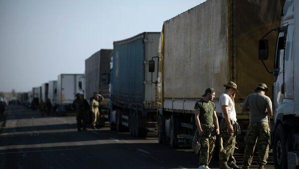 На границе Украины и Крыма. Архивное фото
