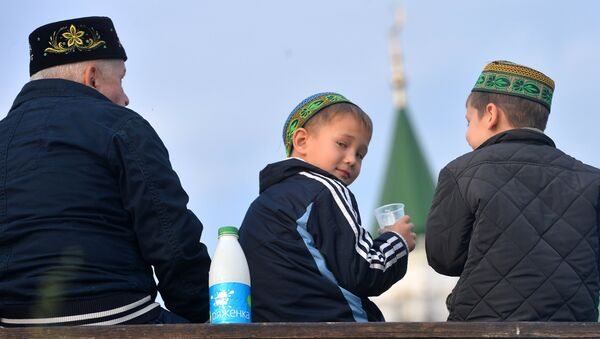 Мусульмане в Казани. Архивное фото