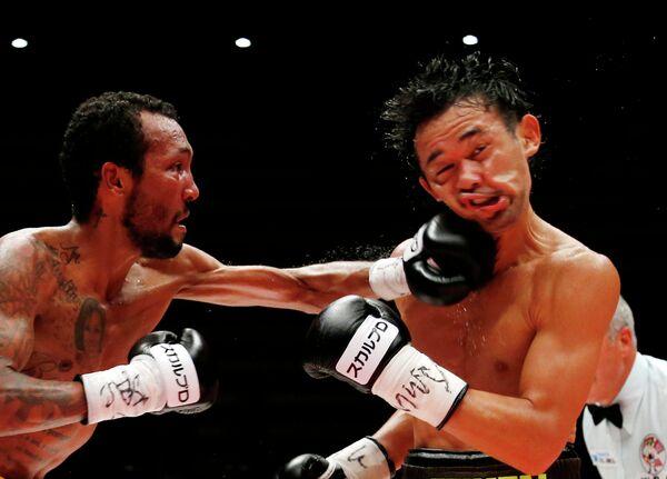 Поединок боксеров Шинсуке Яманака и Ансельмо Морено