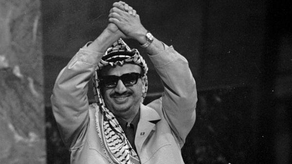 Ясир Арафат во время выступления в ООН. Архивное фото