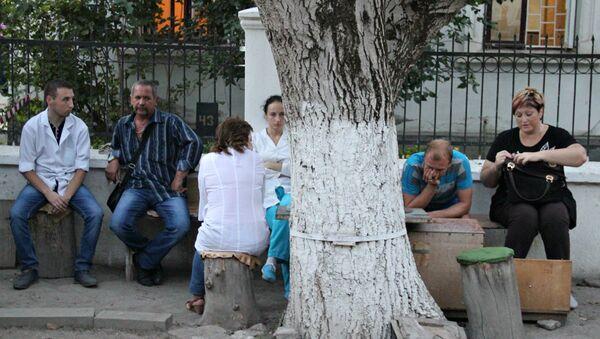 На месте стрельбы на подстанции скорой помощи в Симферополе