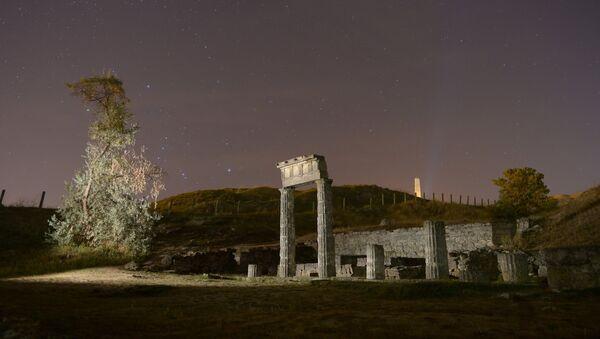 Развалины древнегреческого города Пантикапеи на горе Митридат в Керчи. Архивное фото