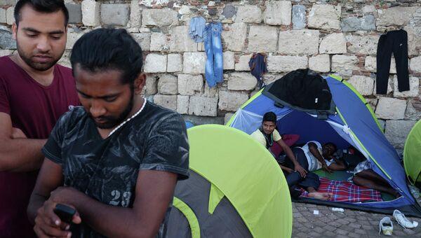 Лагерь беженцев на острове Кос в Греции. Архивное фото