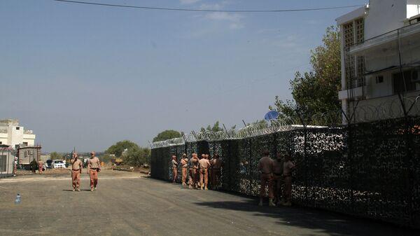 Российские военнослужащие на базе Хмеймим в Сирии