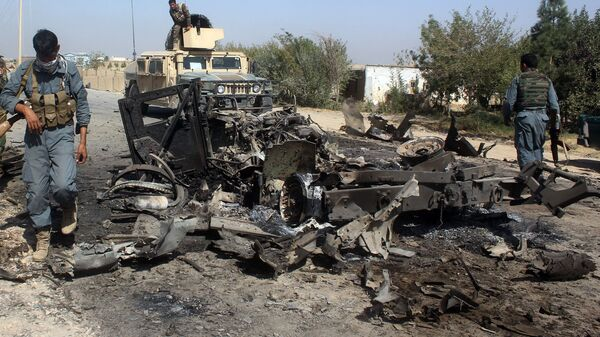 Последствия авиаудара по городу Кундуз, Афганистан. Архивное фото