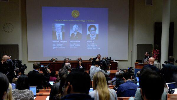 ЛауреатыНобелевской премии по медицине 2015 года. Архивное фото