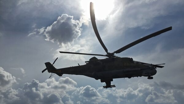 Российский ударный вертолет МИ-24. Архивное фото