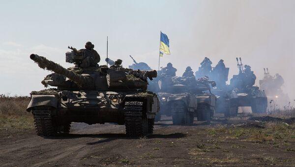 Танки украинской армии в Донецкой области. Архивное фото