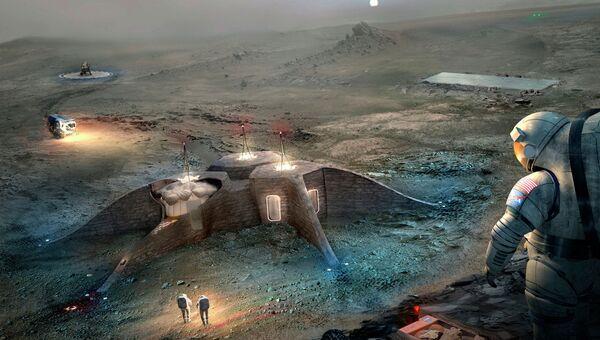 Проект дома на Марсе от команды GAMMA