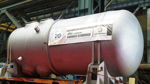 Корпус ядерного реактора для первого энергоблока Белорусской АЭС