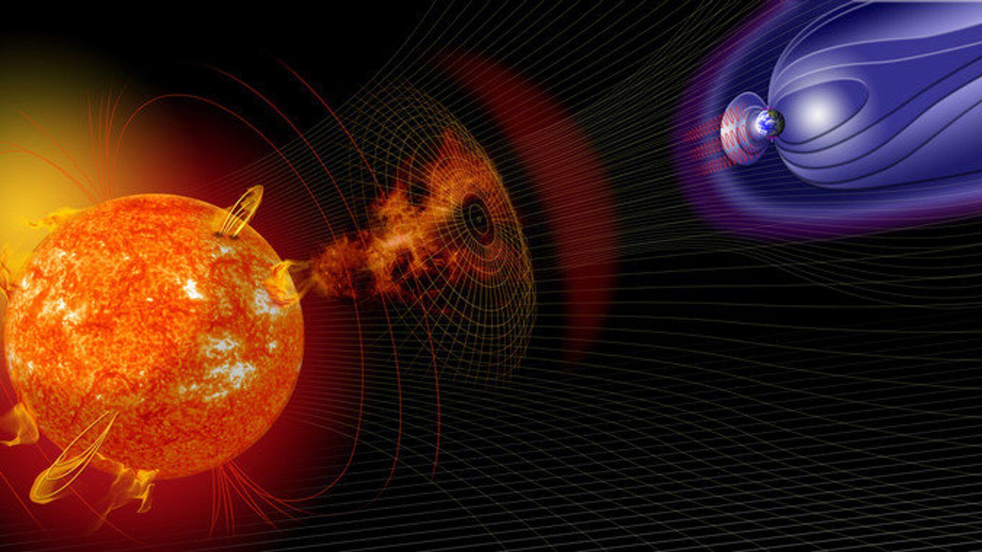 Мощные магнитные бури после вспышек на Солнце могут быть очень опасны - РИА Новости, 1920, 05.06.2020