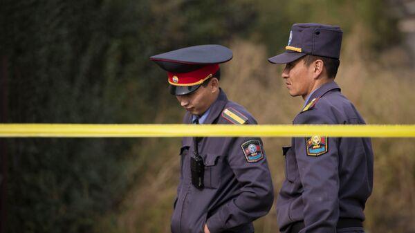 Сотрудники правоохранительных органов Киргизии