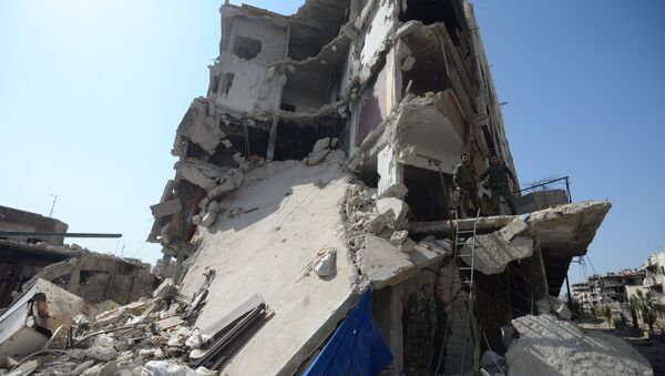 На передовой позиции в пригороде Дамаска Дарайе. Архивное фото