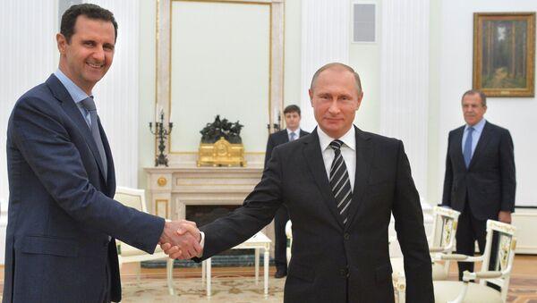 Президент России В.Путин встретился с президентом Сирии Б.Асадом. Октябрь 2015