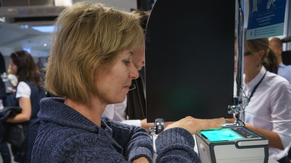Процедура снятия биометрических данных в визовом центре Санкт-Петербурга