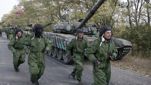 Отвод техники ДНР недалеко от Новоазовска. Донецкая область, октябрь 2015