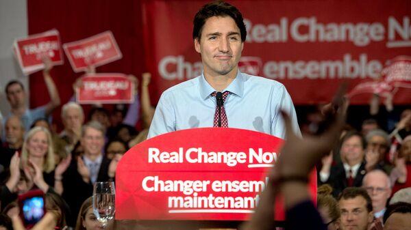 Канадский политик, лидер Либеральной партии Канады Джастин Трюдо