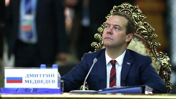 Председатель правительства России Дмитрий Медведев. Архивное фото.