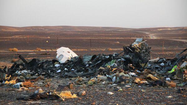 На месте крушения самолета Airbus A321 авиакомпании Когалымавиа в Египте. Архивное фото