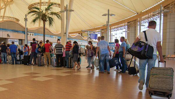 Пассажиры ждут вылета в аэропорту Шарм-эш-Шейха. Архивное фото