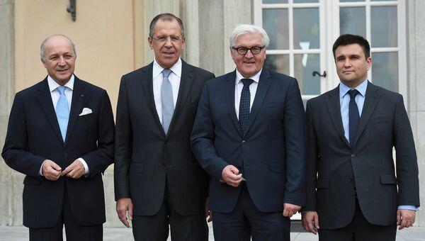 Участники нормандских переговоров на вилле Борзиг, Германия