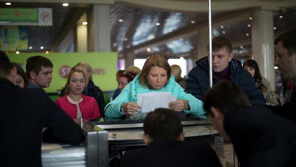 Российские туристы в аэропорту Египта, Шарм-эш-Шейх. Ноябрь 2015
