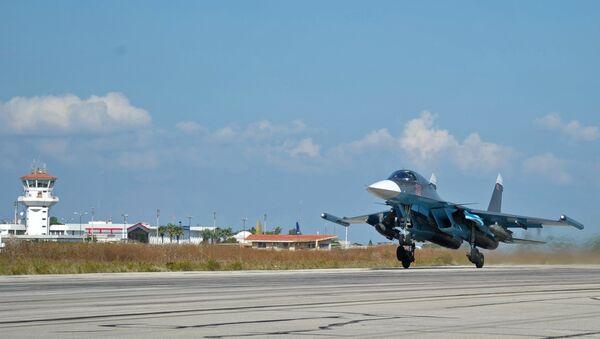 Российская боевая авиация на авиабазе Хмеймим в Сирии. Архивное фото.