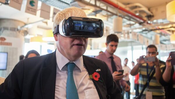 Мэр Лондона Борис Джонсон во время визита в Израиль
