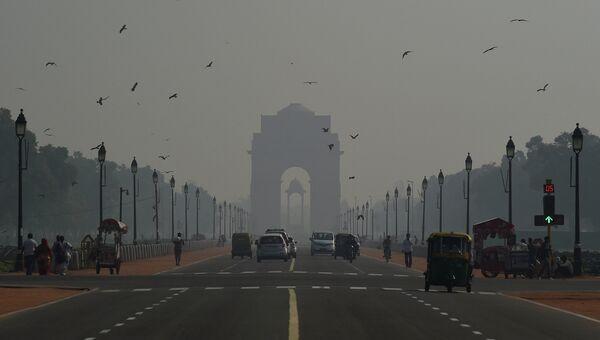 Загрязненный воздух в столице Индии
