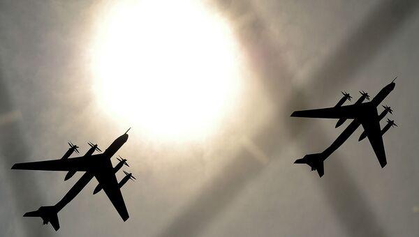 Пролет самолетов ТУ-95. Архивное фото