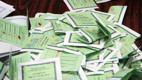 Подсчет голосов после проведения парламентских выборах в Египте