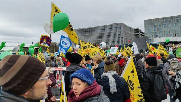 Эко-марш в Берлине