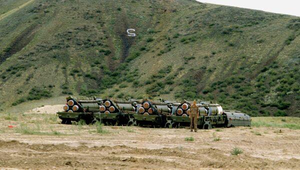 Реализация договора между СССР и США о ликвидации ракет средней и меньшей дальности. Архивное фото