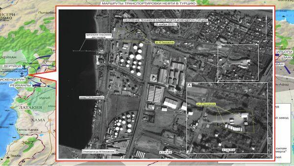 Скопление автомобильной техники в районе порта Искендерун (Турция)