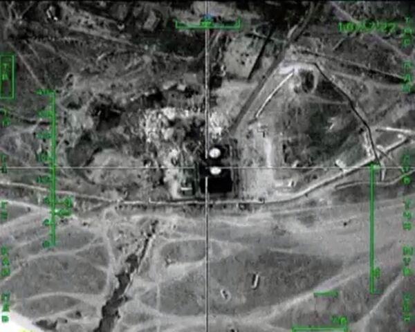 Уничтожение ВКС России нефтеперерабатывающего завода террористов в провинции Маарет-Эн-Нууман