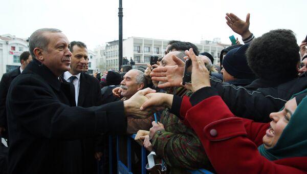 Президент Турции Реджеп Тайип Эрдоган в городе Конья, Турция