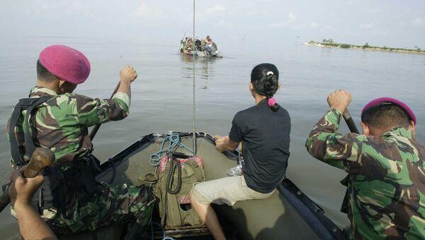 Индонезийские военные у берегов острова Сулавеси. Архивное фото