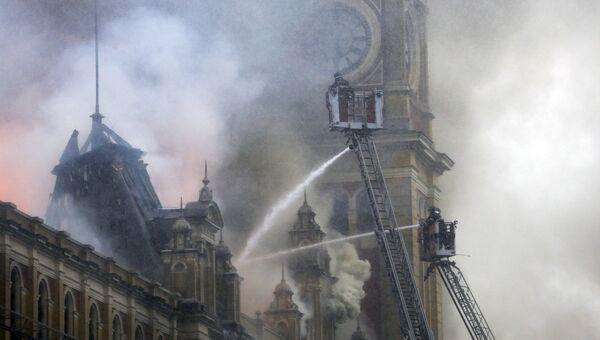 Пожар в здании музея в бразильском Сан-Паулу